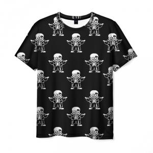 Merchandise T-Shirt Undertale Sans Pattern Black