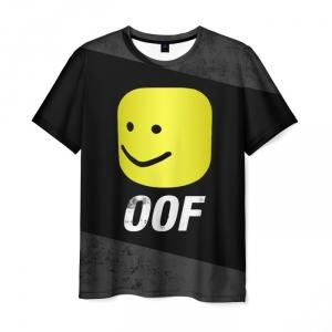 Merchandise T-Shirt Roblox Oof Mem Black