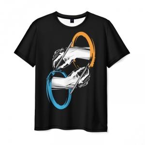Merch T-Shirt Portal Black Hands Print