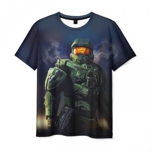 Merch T-Shirt Halo Game Print Character