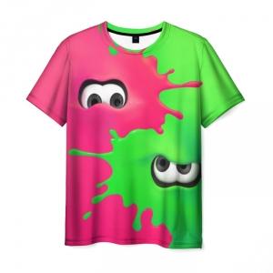 Merchandise T-Shirt Splatoon 2 Pink Green Fan Print