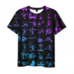 Merch T-Shirt Portal Icons Gradient Pattern