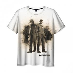 Merchandise T-Shirt Mafia 3 White Print Clothes