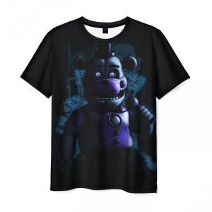 Merch T-Shirt Five Nights At Freddy Bear Print