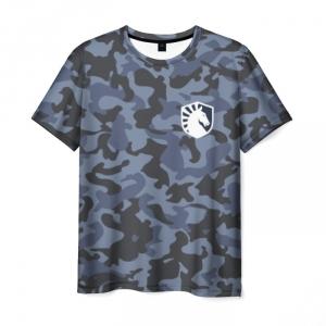 Merch T-Shirt Team Liquid Dota Pattern Blue