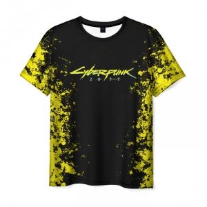 Collectibles T-Shirt Cyberpunk 2077 Black Print Merch