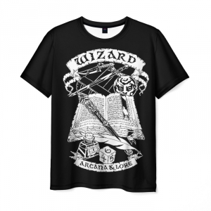 Collectibles T-Shirt Wizard Dungeons &Amp; Dragons Arcana Lore