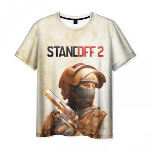 Merch T-Shirt Standoff Print Apparel White