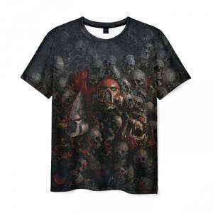 Merch T-Shirt Warhammer 40K Skulls Black Print
