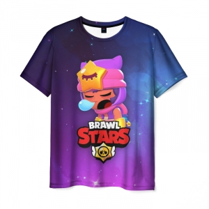 Collectibles T-Shirt Sandy Space Brawl Stars Print Purple