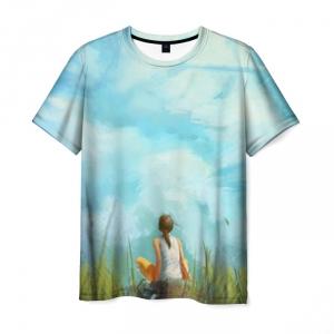Merch T-Shirt Portal Girl Sky Print