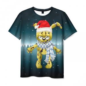 Merch T-Shirt New Year Print Five Nights At Freddy'S