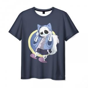 Merchandise T-Shirt Sans Undertale Gray Picture Design