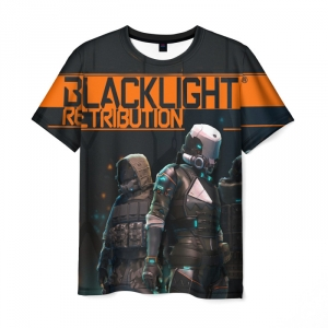 Merch T-Shirt Blacklight Retribution Print