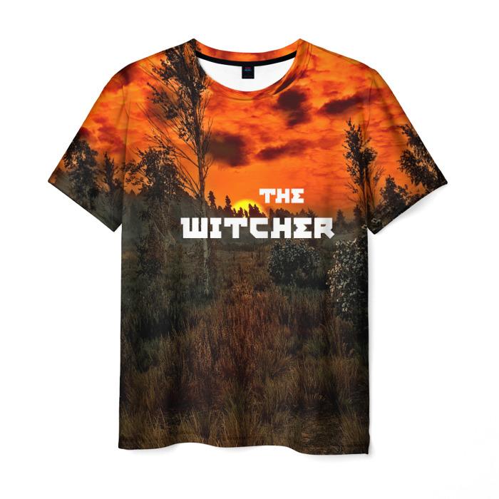 Merch T-Shirt Witcher Landscape Print Merch