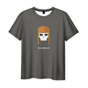Merch T-Shirt Clash Of Clans Skull Print Gray