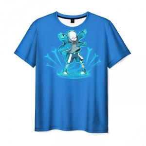 Merchandise T-Shirt Undertale Sans Meditates Blue Print