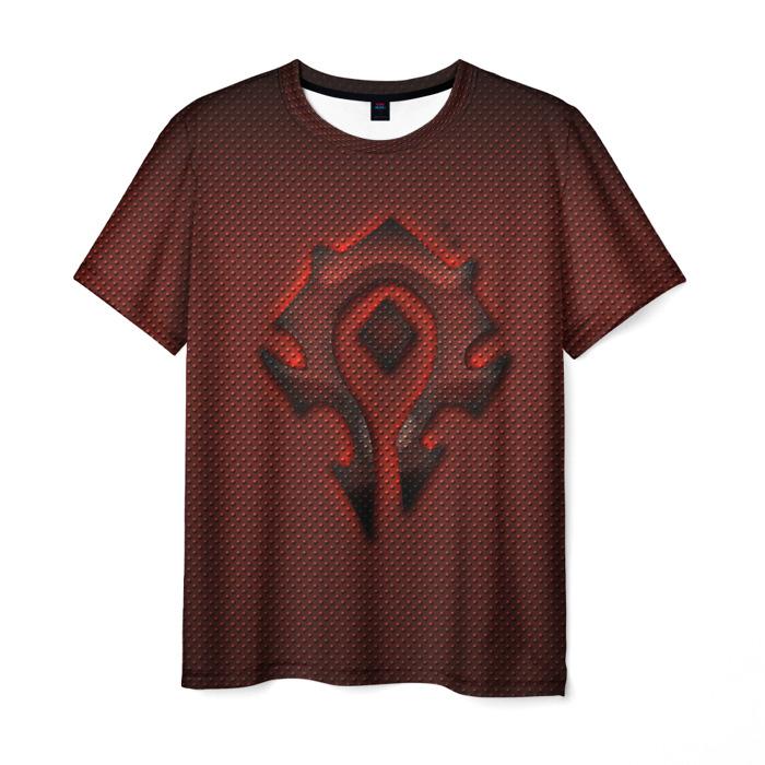 Merch T-Shirt World Of Warcraft Brown Sign