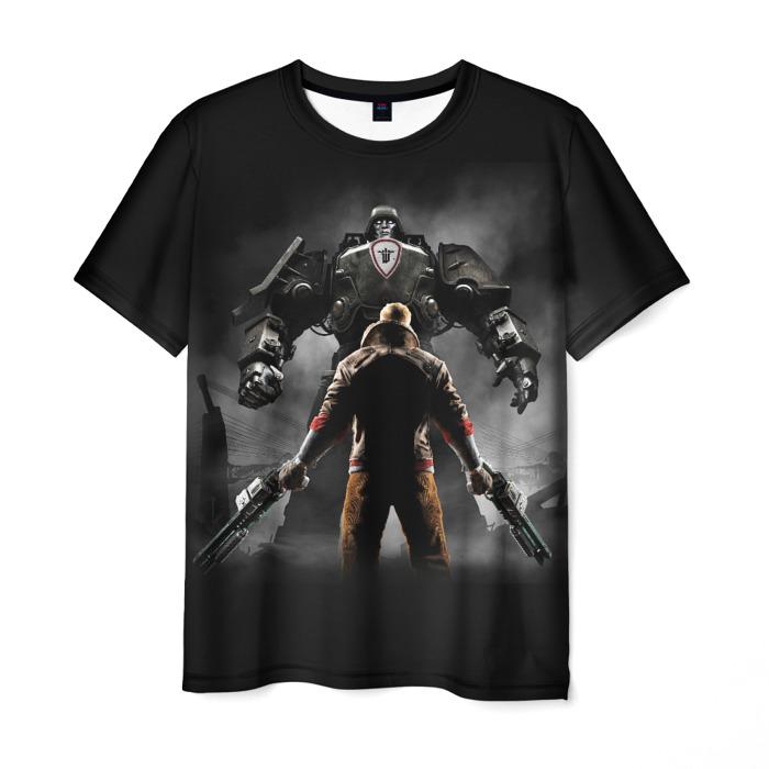 Merch T-Shirt Wolfenstein Scene Art Nerch