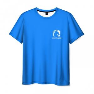 Merch Team Liquid T-Shirt Uniform Dota2 Blue