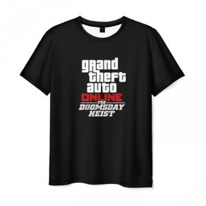 Collectibles T-Shirt The Doomsday Heist Gta Black Print