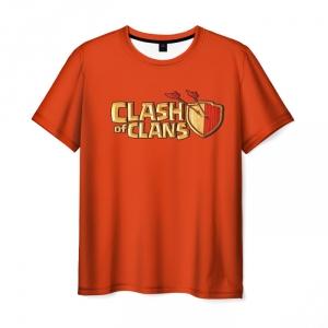 Merch T-Shirt Clash Of Clans Orange Print