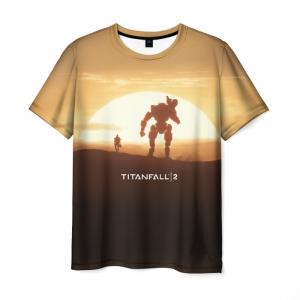 Collectibles T-Shirt Titanfall Sunset Print Game
