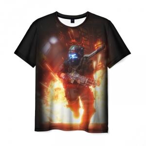 Collectibles T-Shirt Titanfall Drawing Black Print