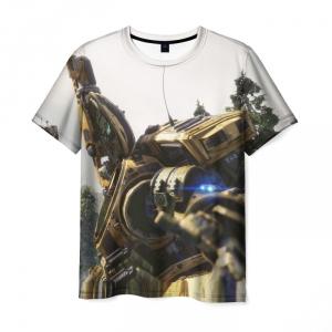 Collectibles T-Shirt Titanfall White Scene Print