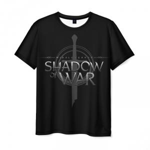 Merchandise T-Shirt Shadow Of War Emblem Black