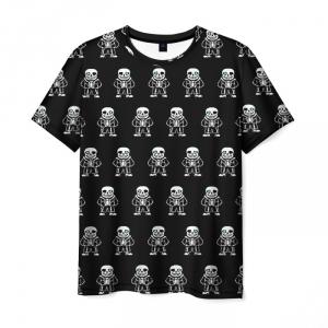Merchandise T-Shirt Undertale Black Merchandise Pattern
