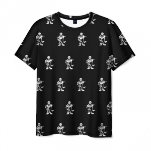 Merchandise T-Shirt Undertale Black Pattern Merch