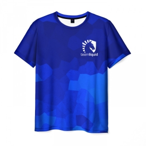 Merch T-Shirt Team Liquid Cybersport Counter Strike Blue