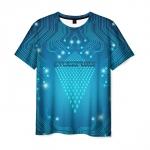 Collectibles T-Shirt Cyberpunk Blue Desing Print
