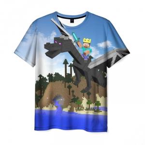 Merchandise T-Shirt Stive Ender Minecraft Dragon Scene