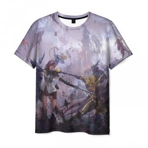 Collectibles T-Shirt Final Fantasy Scene Print Art