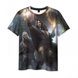 Merch T-Shirt Yennifer Geralt Witcher Scene