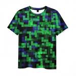 Collectibles T-Shirt Minecraft Green Pixel Print
