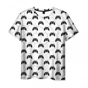 Merch T-Shirt Multi Gemepad White Pattern