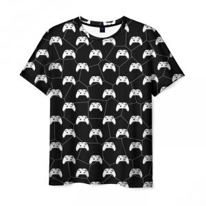 Merch T-Shirt Multi Gemepad Black Pattern
