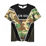 Collectibles T-Shirt Cs:go Camouflage Print Text