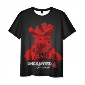 Collectibles T-Shirt Survival Uncharted Notes Black Print