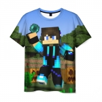 Collectibles T-Shirt Steve Throws An Ender Pearl Minecraft