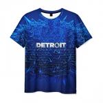 Merch T-Shirt Blue Text Detroit Become Human