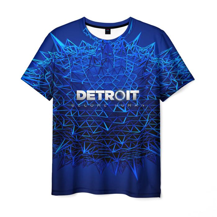 Merchandise T-Shirt Blue Text Detroit Become Human