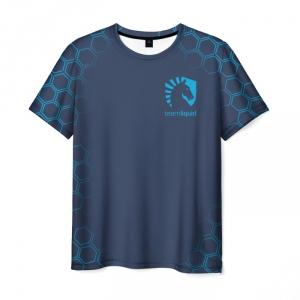 Merch T-Shirt Team Liquid E-Sport Slogan Print