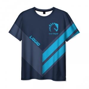 Merch T-Shirt Slogan Text Team Liquid E-Sport