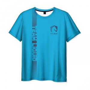 Merch T-Shirt Team Liquid E-Sport Blue Text