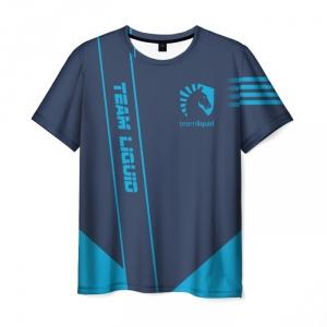 Merch T-Shirt Sign Team Liquid E-Sport Gray