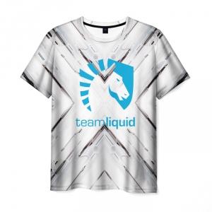 Merch T-Shirt Sign Print White Team Liquid E-Sport